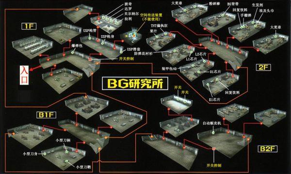 沙尘之锁 BG研究所迷宫走法地图攻略